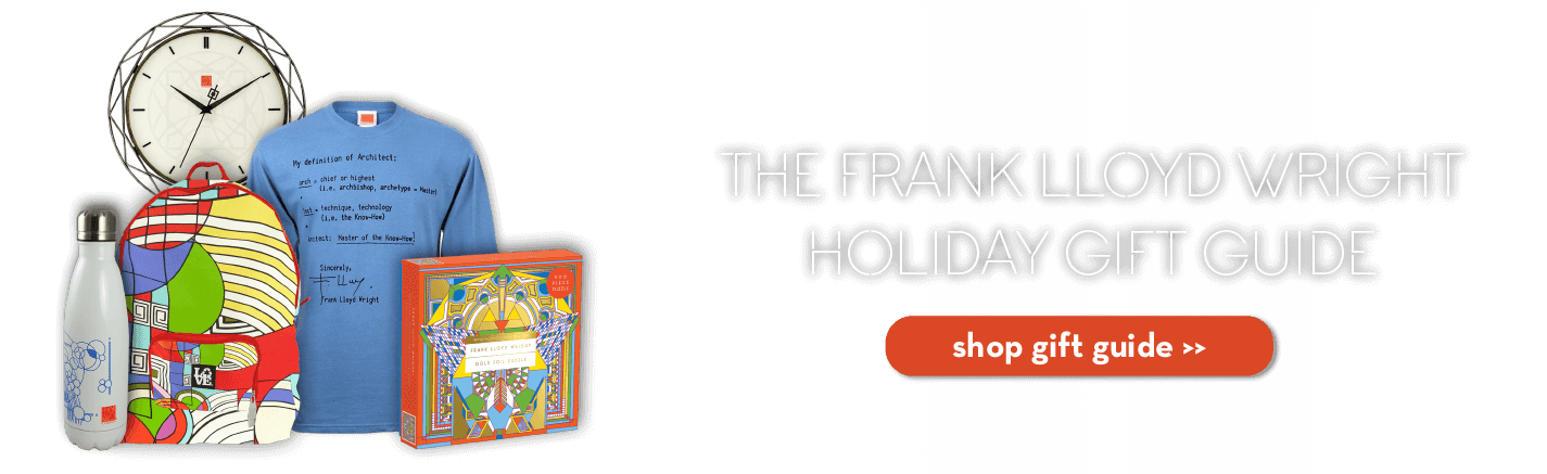 frank lloyd wright holiday gift guide